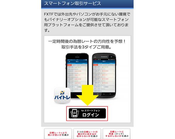 バイトレのスマートフォン取引サービス