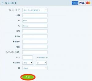 オプションラリー-クレジット決済画面