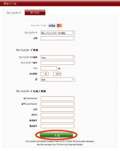 VIPオプション-クレジット決済フォーム