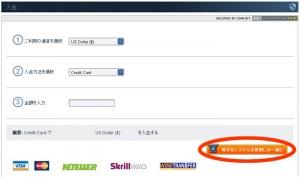 オプションビット-クレジット入金画面
