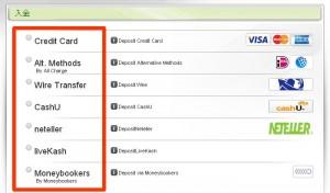 トレーダーXP-クレジット以外の決済方法