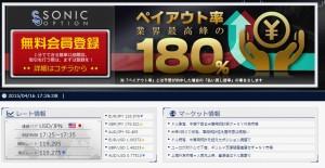 ソニックオプションTOP画面